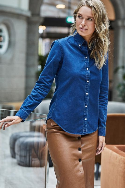 LADIES CASUAL TWILL SHIRT
